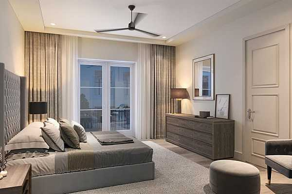 Photo #7 Exterior Rendering of private courtyard, perfect space for outdoor living and grill.