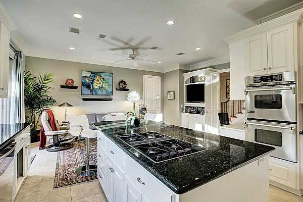 Photo #11 A closer look at the KITCHEN ISLAND that features large drawers for pots and pans, plus additional storage.