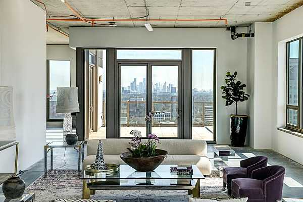 Photo #10 Beautiful staging displays the potential for this amazing and unfinished condo.