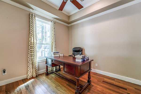 Photo #9 First floor room is perfect for a home office in today