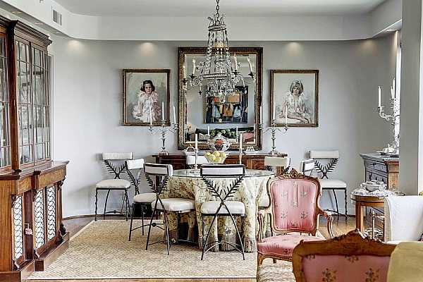 Photo #9 Beautiful dining space!  Magnificent floors.  Curved corners with the wood floors following the curve.  Dramatic down lighting.