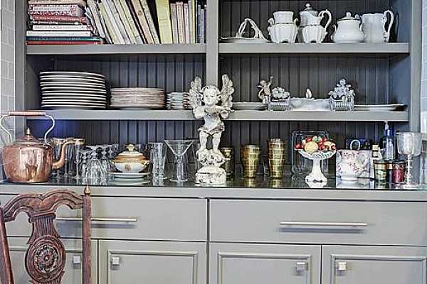 Photo #10 An elegant way to solve all of your storage needs!  Use it for china, cookbooks or a bar.