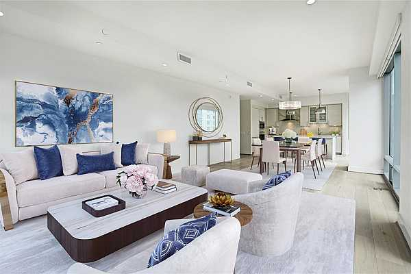 Photo #3 The expansive Living and Dining area is the perfect space for entertaining. (photo is virtually staged)