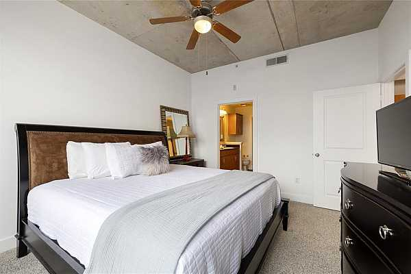 Photo #11 Bedroom view and high ceilings