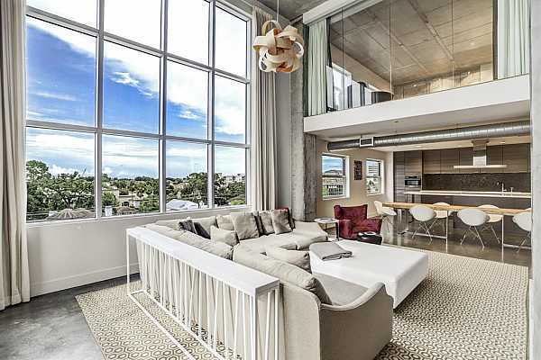 Photo #1 Spectacular condo with amazing views in the heart of Houston off Memorial Drive!  Renovated in 2010 with high end finishes and amazing architectural elements!
