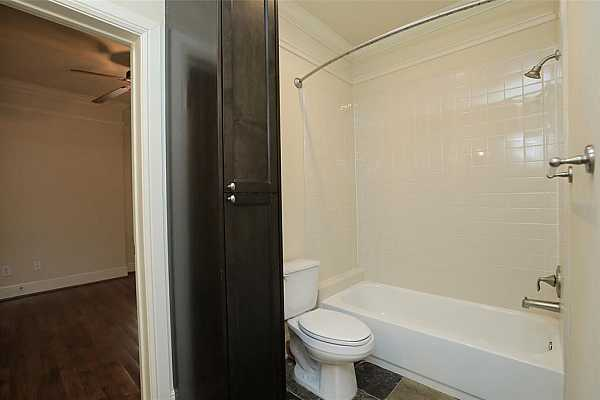 Photo #10 Jack and JIll downstairs bathroom with slate floors and extra storage