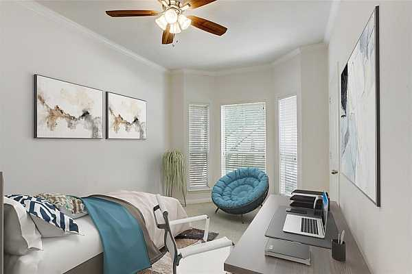 Photo #11 Virtually staged secondary bedroom