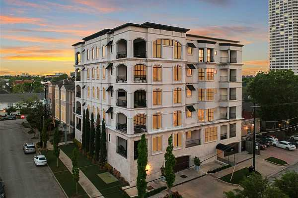 Photo #1 Chateau Ten is situated prestigiously between River Oaks and Upper Kirby.  A boutique mid-rise, it offers a total of only 10 residences with two residences per floor with direct access elevator to each home.  The convenient River Oaks area location is close to many of Houston