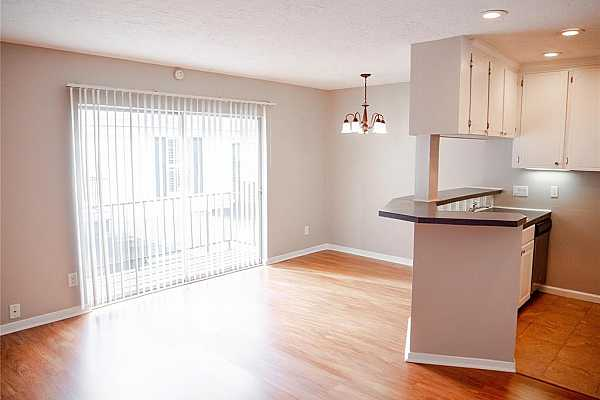 Photo #3 This unit is newly updated and has lots of light! This one bedroom has a balcony and plenty of space once you walk in!