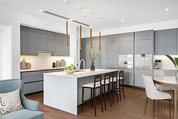 Photo #4 State-of-the-art kitchen fully outfitted with Gaggenau appliances and Giorgetti cabinetry.