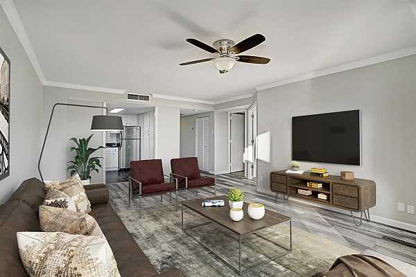 Photo #3 Brand new floor trim, brand new crown molding, updated electrical switches and outlets--including convenient USB outlets.